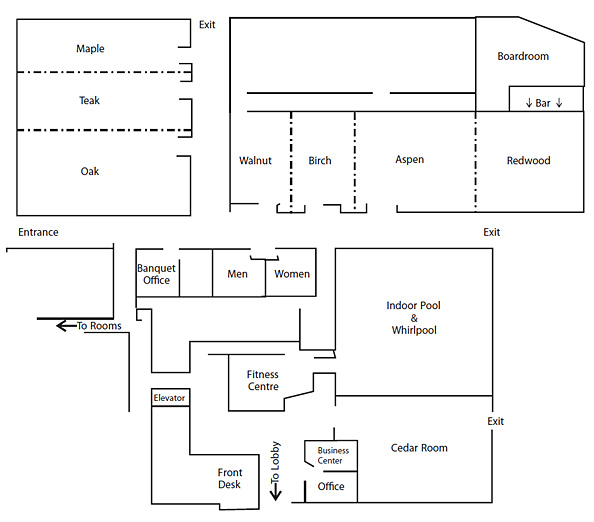 Ground Floor Plan Conference Centre at Ramada Lodge Hotel in Kelowna
