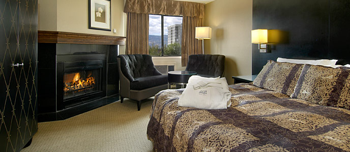 New York Style Themed Hotel Room in the Ramada Kelowna Lodge