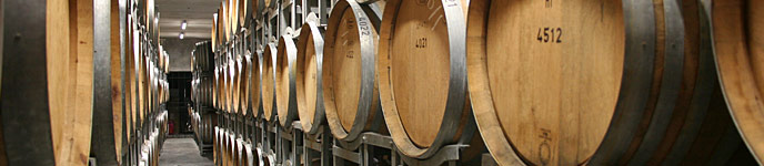 Okanagan Wineries Cellar Full ofWIne Barrels